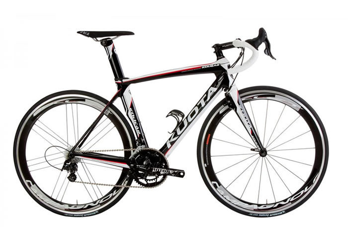 Bicicleta Kuota Kougar negra-blanca