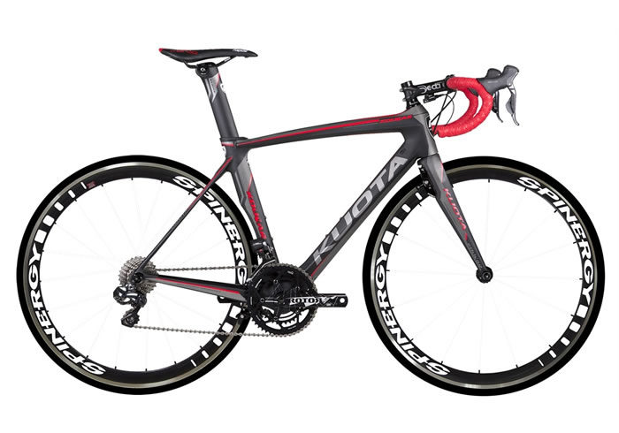 Bicicleta Kuota Kougar negra-roja