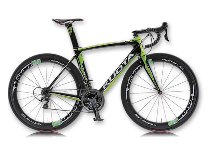 Bicicleta Kuota Kougar negra-verde