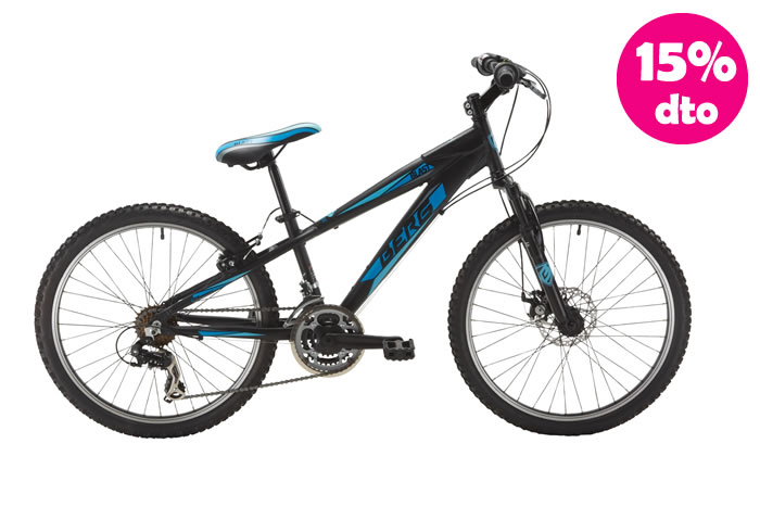 Bicicleta INFANTIL BERG BLAS-249 Azul-Negra-Amarilla 24 con freno disco