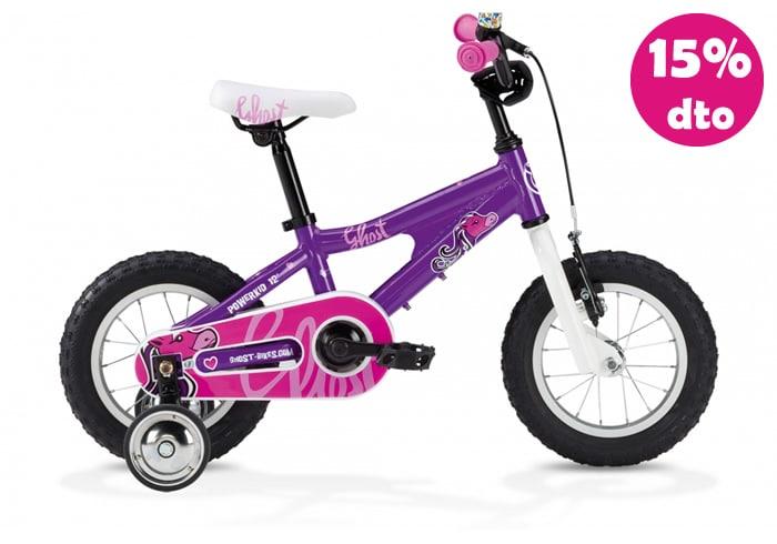 Bicicleta INFANTIL GHOST POWERKID Morada 12