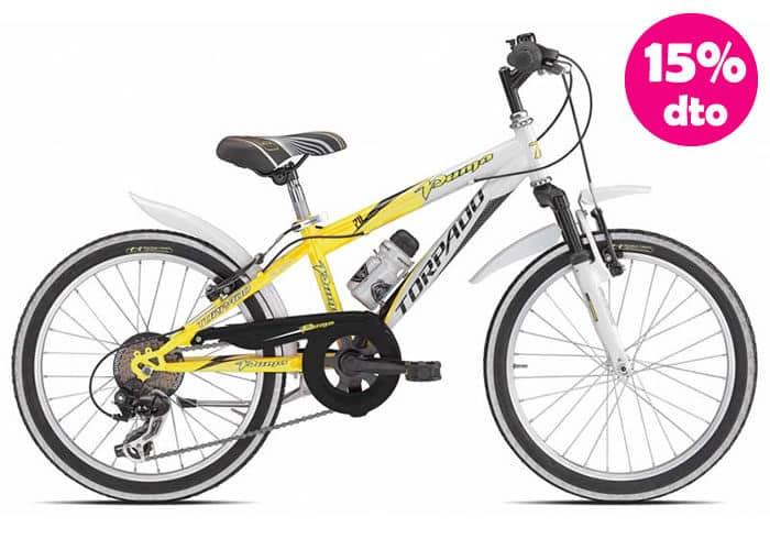 Bicicleta INFANTIL TORPADO PUMA Blanca-Amarilla 20