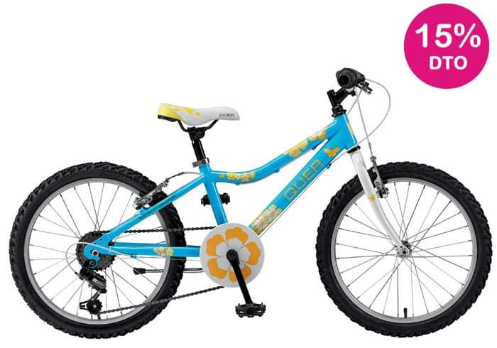 Bicicleta INFANTIL QUER-GIRL 20 azul-amarillo