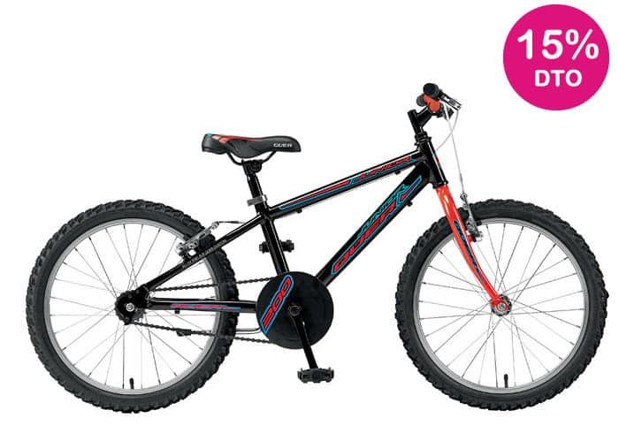 Bicicleta INFANTIL QUER-KID 20 Negro-azul-rojo