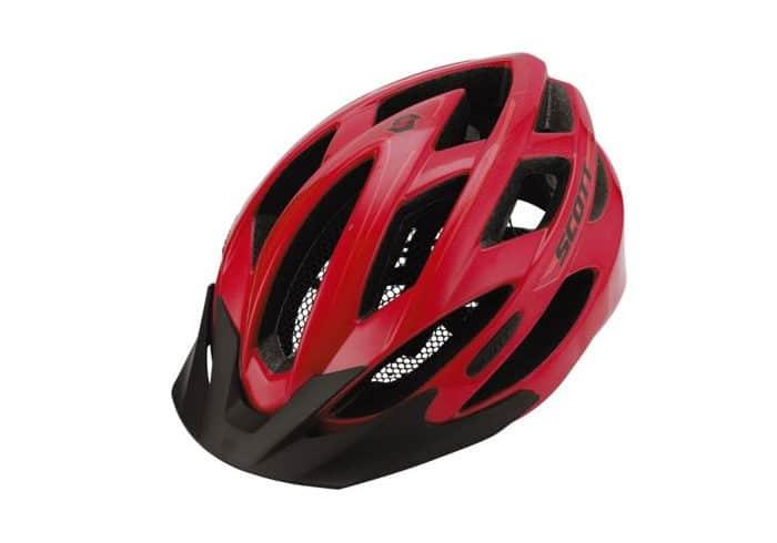 casco ciclismo scott watu rojo