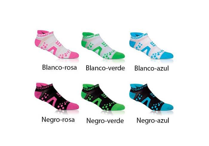 Calcetines cortos de compresion compressport colores