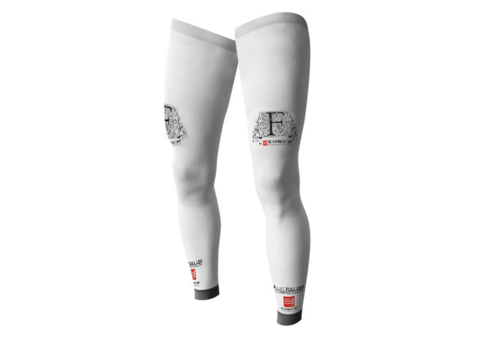 Medias Compresion Compressport FULL LEG blancas