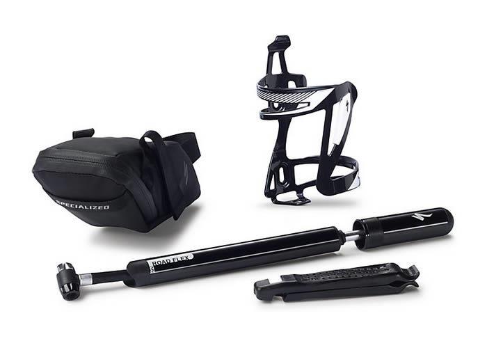 kit accesorios bicicleta negro