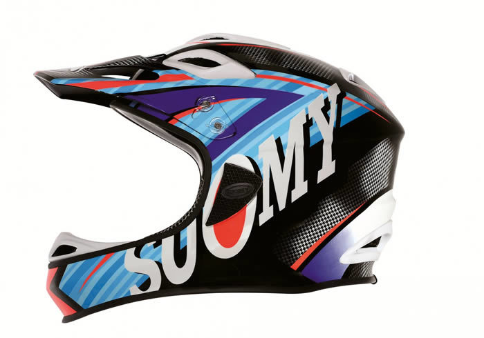 Casco para descenso suomy jumper carbon flash azul-negro