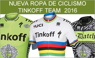 NUEVA ROPA DE CICLISMO TINKOFF TEAM 2016