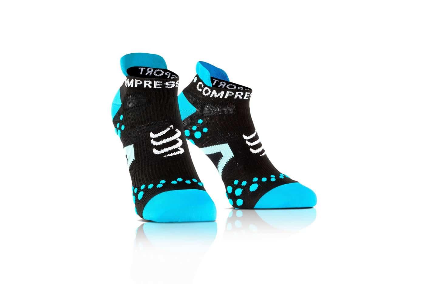 Calcetines Bajos Compressport Proracing Socks V2_1 negro-azul