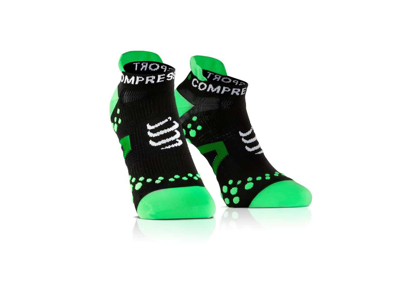 Calcetines Bajos Compressport Proracing Socks V2_1 negro-verde