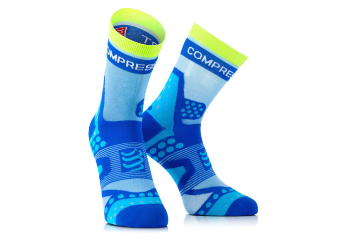 Calcetines Compressport Proracing Socks Ultralight azul