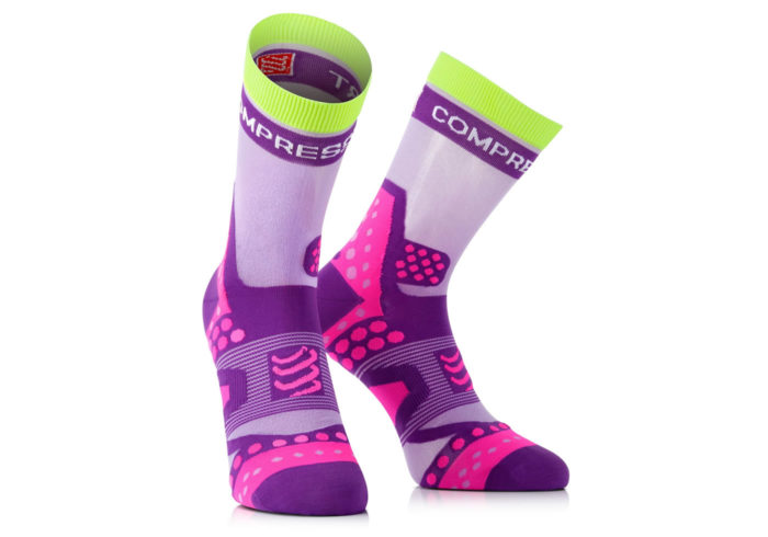 Calcetines Compressport Proracing Socks Ultralight morado