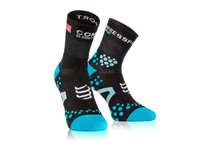 Calcetines Compressport Proracing Socks V2-1 negro-azul