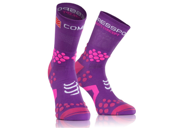 Calcetines TRAIL Compressport Proracing Socks V2_1 morado