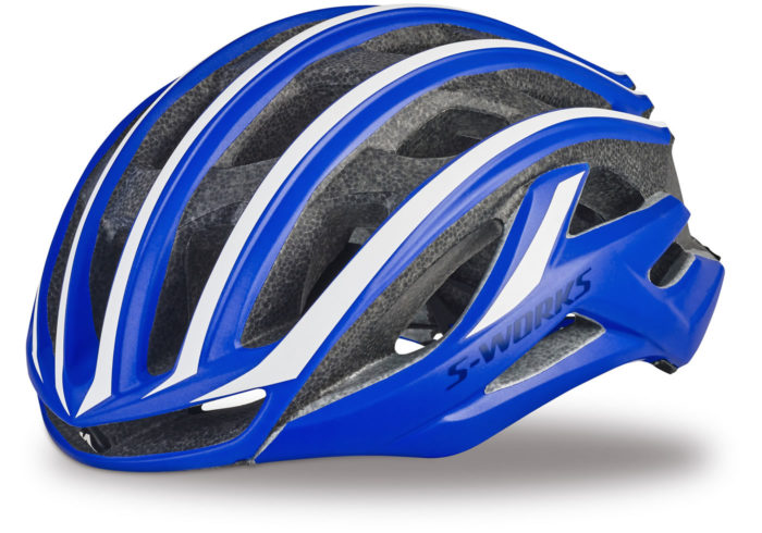 Casco Specialized s-works prevail II azul-blanco