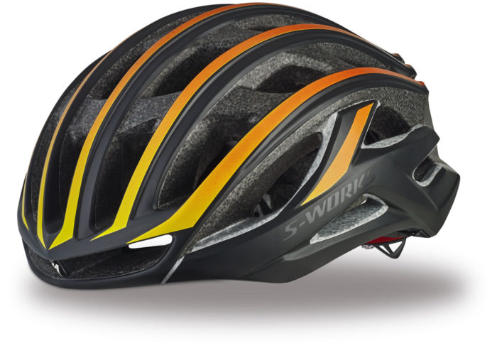 Casco Specialized s-works prevail II negro-naranja