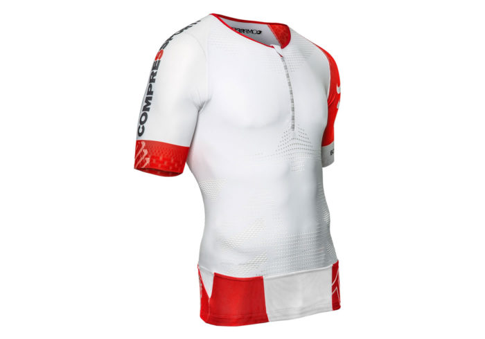 Maillot Top Compressport TR3 AERO blanco