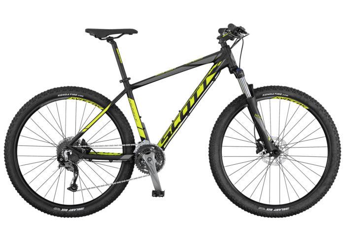 Scott Aspect 740-940 2017. La Aspect 740 de SCOTT es una bicicleta rígida sin suspensión trasera, diseñada para ser ligera, eficaz y de precio razonable. La horquilla cuenta con el mecanismo de bloqueo, los frenos son de disco y los componentes de Syncros. Es el modelo perfecto para principiantes o para usuarios de bicicleta de montaña que se guíen por el presupuesto.