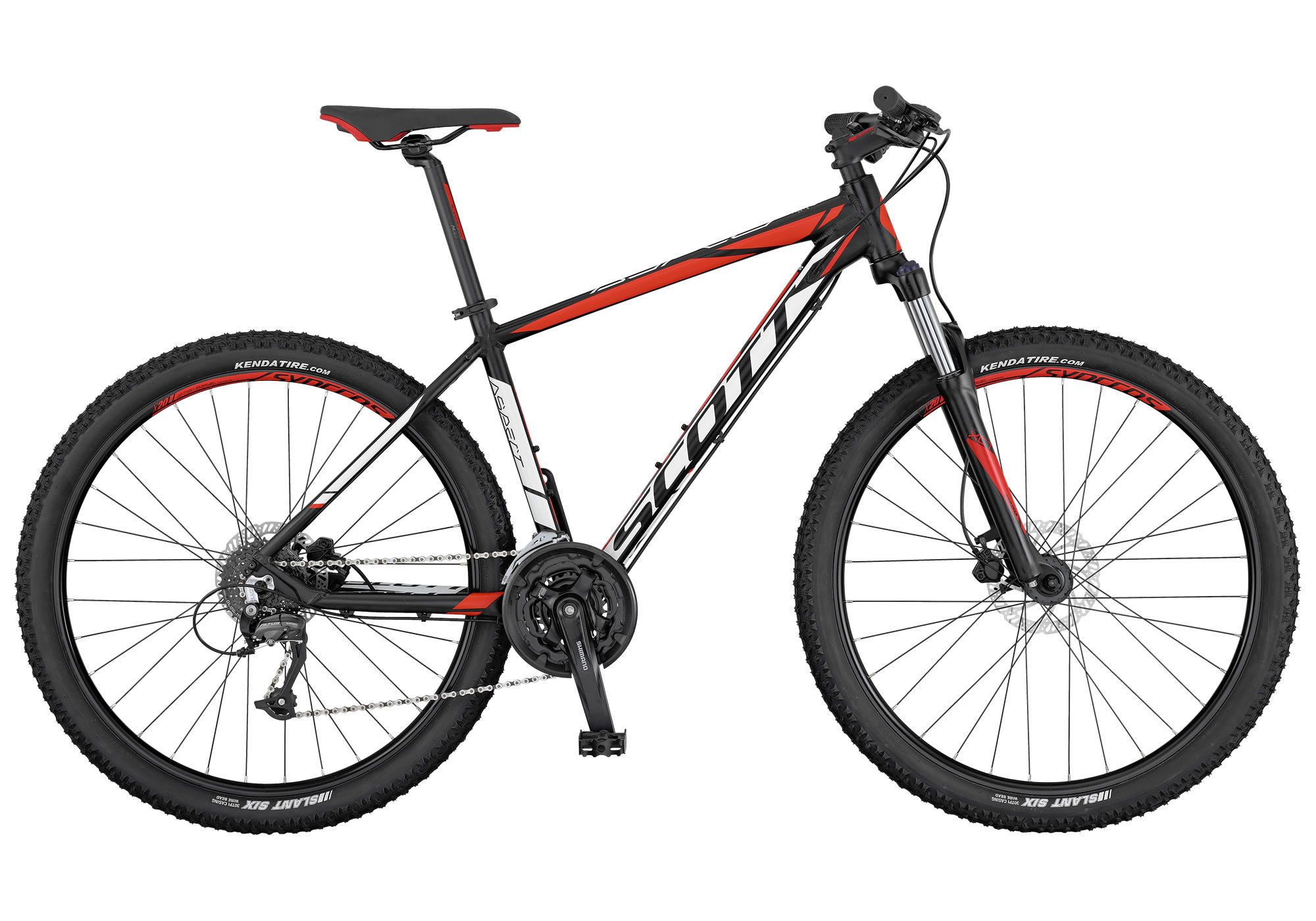 Scott Aspect 750-950 2017 blanca-negra. Scott Aspect 750-950 2017 roja-negra. La Aspect 750 de SCOTT es una bicicleta rígida sin suspensión trasera, diseñada para ser ligera, eficaz y de precio razonable. La horquilla cuenta con el mecanismo de bloqueo, los frenos son de disco y los componentes de Syncros. Es el modelo perfecto para principiantes o para usuarios de bicicleta de montaña que se guíen por el presupuesto.