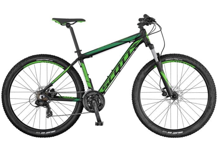 """Scott Aspect 760-960 2017. La Aspect 760-960 de SCOTT es una bicicleta rígida sin suspensión trasera, diseñada para ser ligera, eficaz y de precio razonable. Los frenos son de disco y los componentes de Syncros. Es el modelo perfecto para principiantes o para usuarios de bicicleta de montaña que se guíen por el presupuesto. Disponible en tamaño de rueda de 27,5""""."""