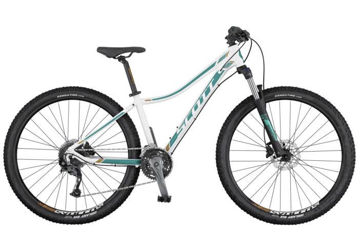 Bicicleta de montaña Scott Contessa 720. La Contessa 720 de SCOTT es una bicicleta de montaña sin suspensión trasera con características específicas para mujer y un precio asequible. Esta bicicleta es ideal para ciclistas ocasionales y principiantes y cuenta con una horquilla con bloqueo y frenos de disco Tektro.