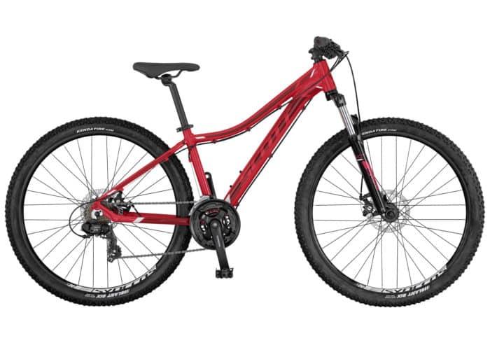 Scott Contessa 750. La Contessa 750 de SCOTT es una bicicleta de montaña sin suspensión trasera con características específicas para mujer y un precio asequible. Esta bicicleta es ideal para ciclistas ocasionales y principiantes y cuenta con frenos de disco Tektro.