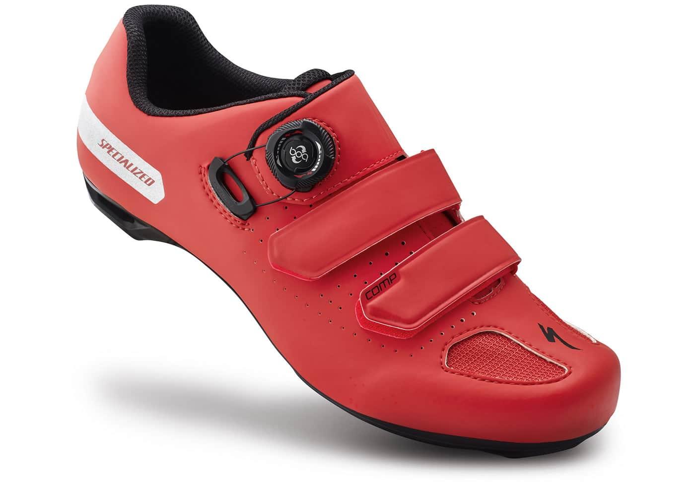 zapatillas de ciclismo specialized comp rojas