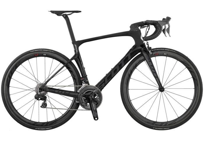 Scott Foil Premium. La nueva bicicleta de carretera SCOTT Foil Premium forjó su reputación cosechando victorias en diferentes etapas del Tour de Francia, en la Milán-San Remo y en la Lieja-Bastogne-Lieja, por mencionar solo algunas. Este éxito nos animó a diseñar la nueva FOIL Premium de una forma incluso más aerodinámica y cómoda que antes y con el mismo nivel de rigidez lateral. Hemos rediseñado totalmente el cuadro de fibra de carbono HMX para reducir aún más la resistencia aerodinámica y poder ganar esos valiosos segundos. Es uno de los cuadros más ligeros en el segmento de aerodinámicos. Con un sistema de manillar integrado Syncros, Dura-Ace Di2 y componentes de carbono Syncros, esta bicicleta está diseñada para ayudarte a ganar todas las carreras.