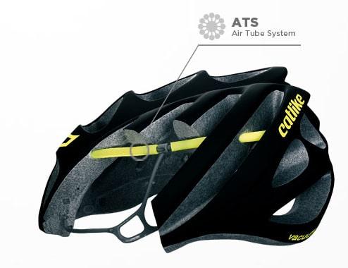 Revolucionario sistema desarrollado y patentado por Catlike, de malla interior hueca que refuerza la estructura, seguridad y ligereza del casco.