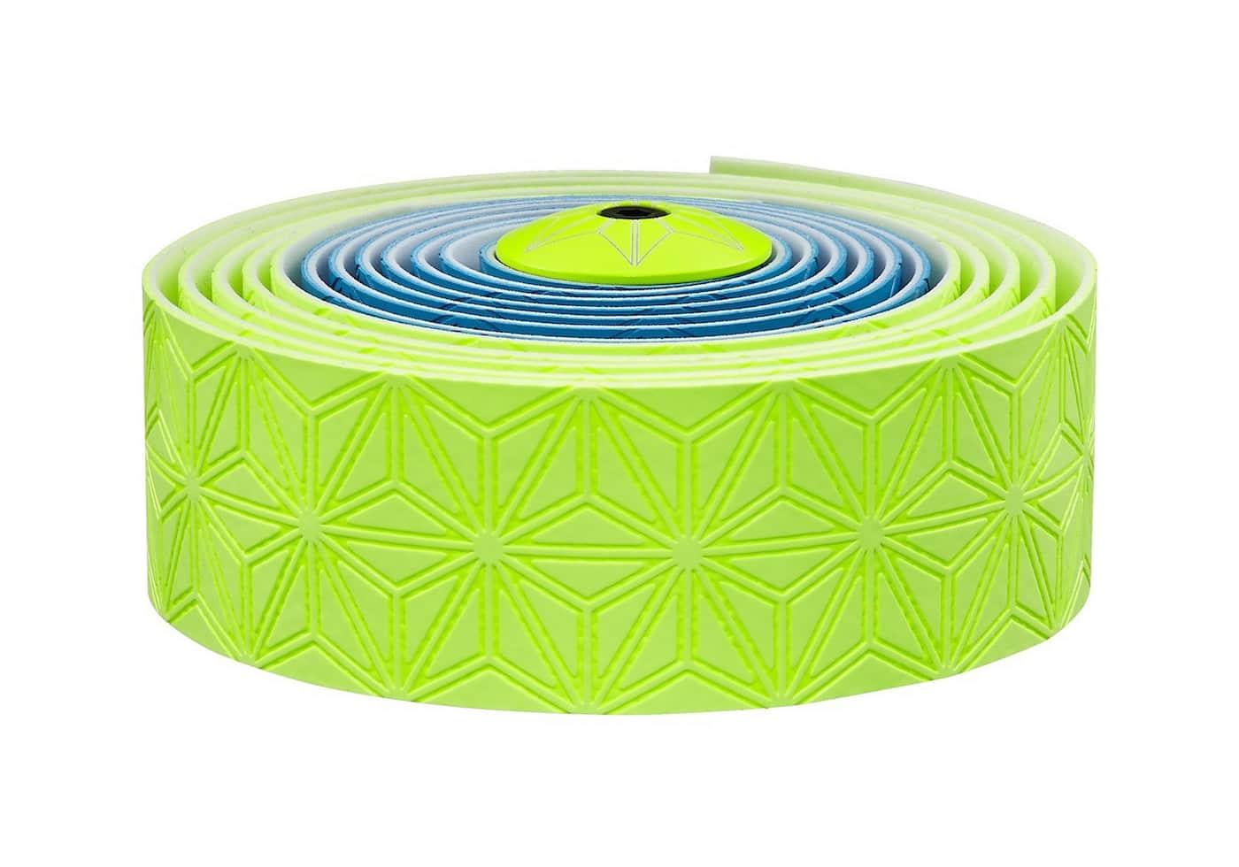 Cinta manillar Supacaz azul-verde fluor