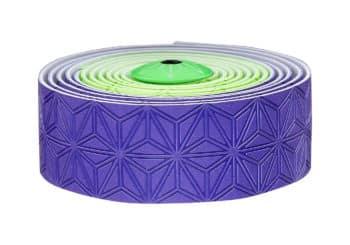 Cinta manillar Supacaz violeta-verde fluor
