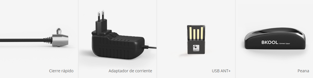 Accesorios que incluye el Rodillo Bkool Smart Go