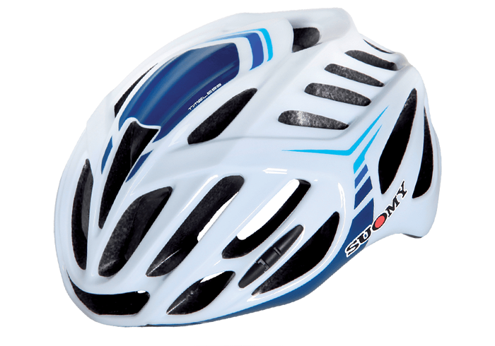Casco ciclismo Suomy blanco-azul