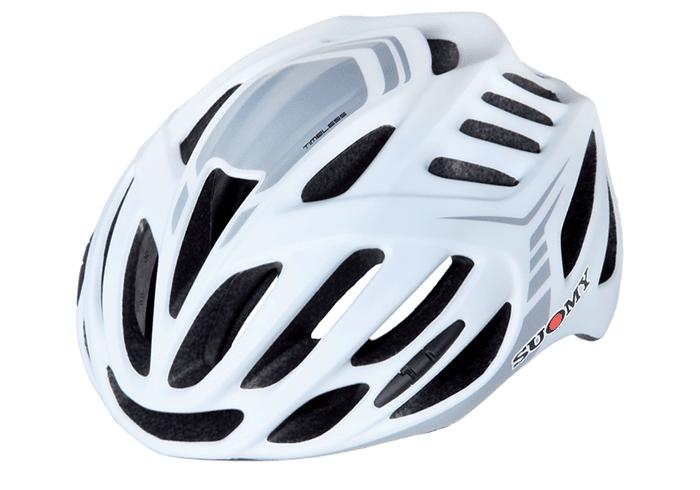 Casco ciclismo Suomy blanco-gris