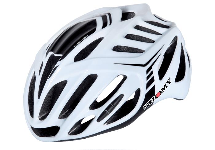 Casco ciclismo Suomy blanco-negro