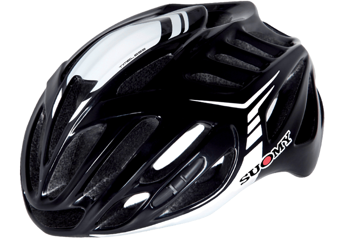 Casco ciclismo Suomy negro-blanco