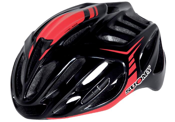 Casco ciclismo Suomy negro-rojo