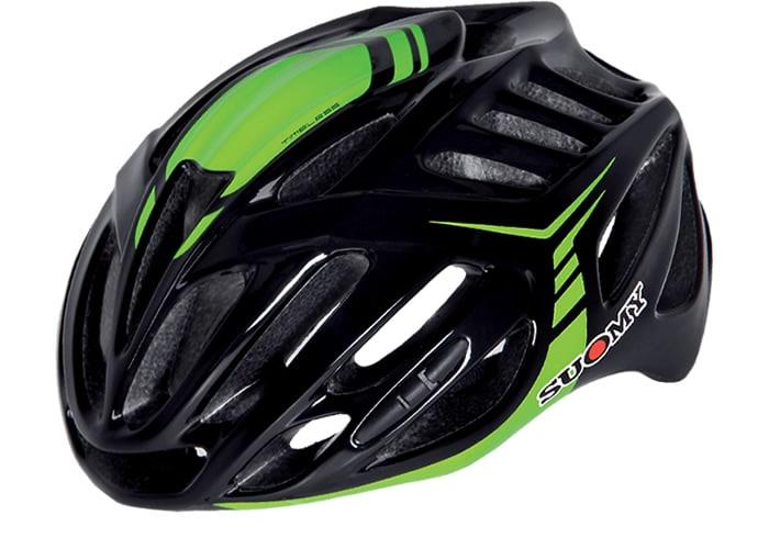 Casco ciclismo Suomy negro-verde