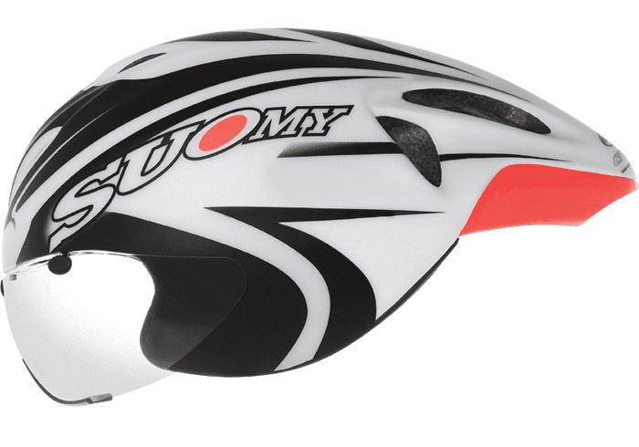 casco triatlon suomy crono GT-R Blanco-Negro