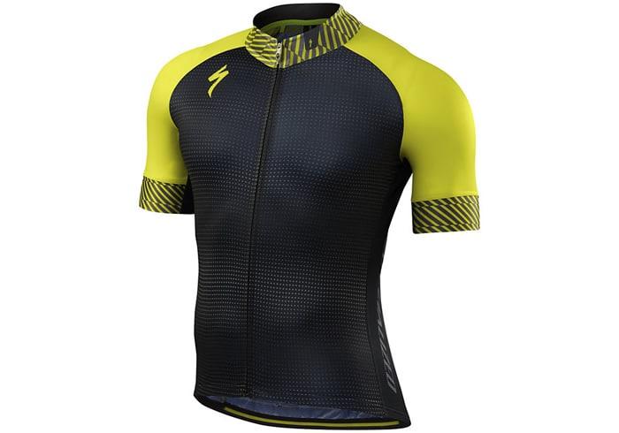 Maillot ciclismo Specialized SL EXPERT 2018 negro-amarillo