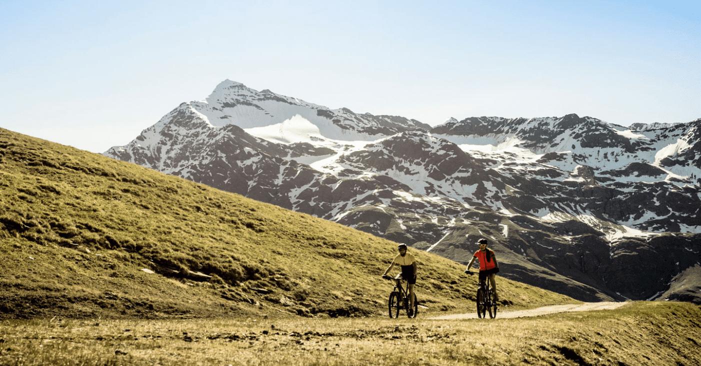 ciclismo en los Alpes italianos
