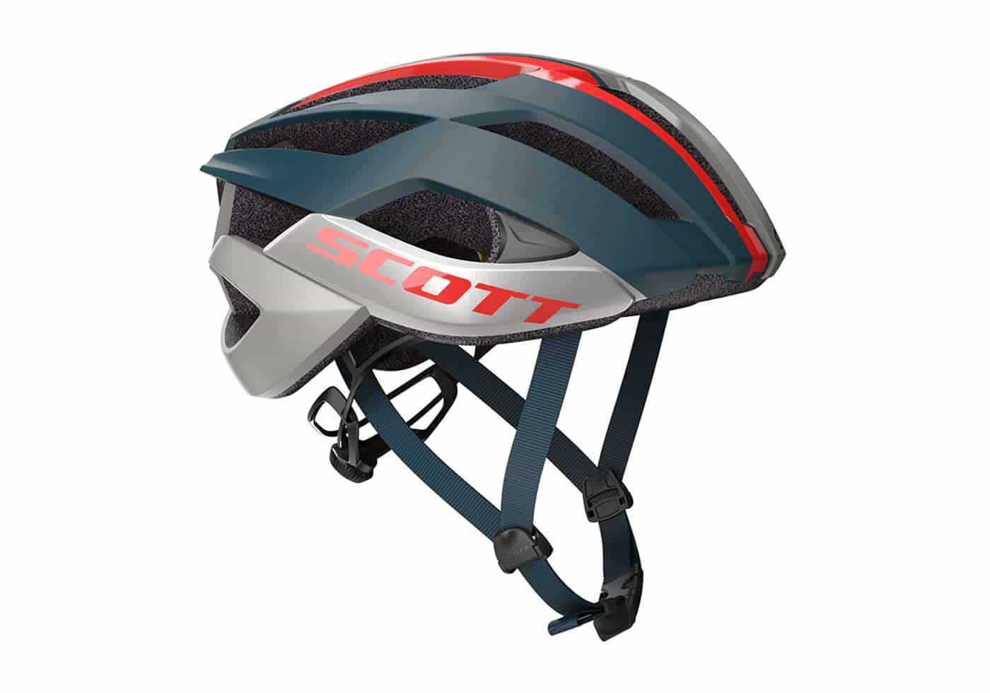 SCOTT Arx 2020 Color Gris y Rojo Casco para Bicicleta